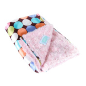 AllyZabba Choco-Dot Candy Large Baby Blanket 34 x 28