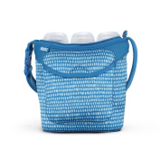 Built Bottle Buddy Three Bottle Tote, In Dribble Dots Blue