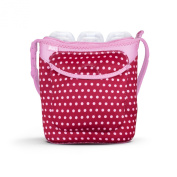 Built Bottle Buddy Three Bottle Tote, In Baby Pink Mini Dots