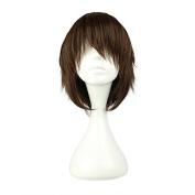 Mcoser 30cm Dark Brown Woman Sexy Cosplay wig