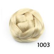 Hair Chignon Synthetic Donut Roller Hairpieces Clip-In Fake Hair Bun