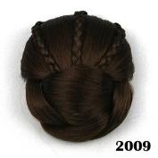 Hot Fashion ,Raided Clip in Hair Bun, Hair Chignon, Donut Roller Hairpieces, 1pc
