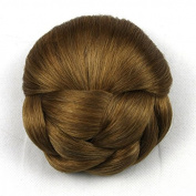 5 Colours Braided Clip in Hair Bun Hair Chignon Donut Roller Hairpieces 1pc