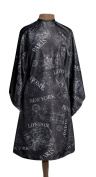 1907 City Maps Hairstyling Cape #NTA022, Lightweight, polyester, water resistant, protective, adjustable, snap closure, barber, hair stylist, salon, haircut, stylist