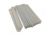 Mini White Salon Cushion Board Nail File 8.9cm Long by 1.3cm Wide (12 Pack) Jaylie TM