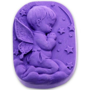 Longzang Boy Angel Prayer Silicone Mould Craft Art Silicone Soap Mould Craft Moulds DIY Handmade Soap Moulds