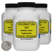 Coconut Oil [Fractionated Triglycerides] 100% Food Grade 710ml in Three Space-Saver Bottles USA