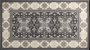 Robert Kaufman 'Trieste' Grey/Black/Silver Ornate Cotton Fabric Panel