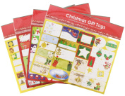 200 Christmas Foil Peel and Stick Holiday Labels and Gift Tag Stickers