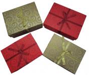 Christmas/chanukah/hanukkah Four Box Gift Bundle - Includes (2) Large Size and (2) Medium Size Boxes