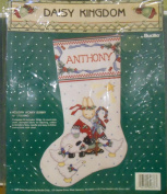 "Daisy Kingdom By Bucilla ""Holiday Honey Bunny"" 41cm Christmas Stocking Kit 1991"