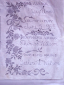 Vintage Paragon Needlecraft Sampler - Birth Day