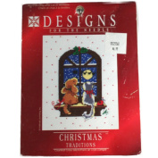 Designs for the Needle Christmas Traditions Dog and Cat in Window Counted Cross Stitch Kit 301900