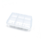 5 PCS Clear Beads Tackle Box Arts Crafts Tackle Storage Plastic Boxes Organisers Containers Case XX002