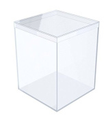 Clear Plastic Box - 8.7cm Square X 11cm Tall - 6 Boxes Per Pack
