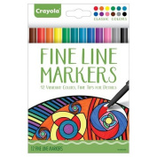. Aged Up Adult Colouring 12ct Fineline Markers 12 Vibrant Colours with Fine Tips for Details