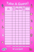 Bundle Boards It's A Girl Baby Shower Guessing Game and Keepsake, Small