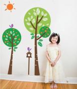 Pop Decors Removable Vinyl Art Wall Decals Mural for Nursery Room, Sunshine in My Garden