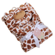 New Release Winter Windproof Infant Blankets with a Hood Cloak Animal Head Small Coral Fleece Wool Blanket with Free Shipping Cr03