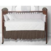 Patch Magic Fabric Crib Dust Ruffle, Cream Tartan Plaid