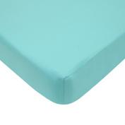 American Baby Company 100% Cotton Percale Fitted Portable/Mini Crib Sheet, Aqua