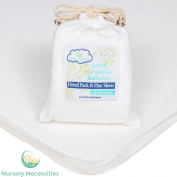 100% Organic Bamboo Pack N Play Sheet - #1 BEST QUALITY & Superior to Cotton - Silky Soft, Antibacterial, Hypoallergenic - By Nursery Necessities