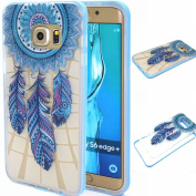 BLT® Galaxy S6 Edge Plus case, [ Hard Clear Back and Soft TPU Edges] Case, Blue Dream-catcher Cover for for  for  for  for  for  for  for  for Samsung        Galaxy S6 Edge Plus, Screen Protector and Dust-absorber as Gift
