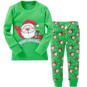 "BlcSwan Little Boy Xmas ""Santa with Gift"" 2 Piece Cotton Pyjamas Set"