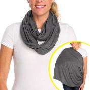 Infantino Infinity Scarf Nursing Cover, Grey