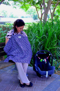 # BREASTFEEDING NURSING COVER by Bubby's Stuff # Bebe & hooter hider apron for Nursing Privacy. Maternity 'au lait' feeding Udder Cover. Xtra wide tops, soft wipes & pocket. Motherhood made simple!