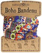 Natural Life Boho Bandeau Band, Royal Blue/Lime/Red by Natural Life
