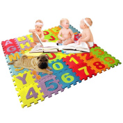 OurWarm 1.8M*2M Double Sides Baby Toddler Crawl Mat Playing Carpet Playing Mat Picnic Blanket Alphabet Puzzle