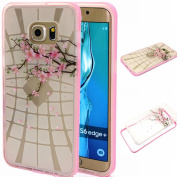 BLT® Galaxy S6 Edge Plus case, [ Hard Clear Back and Soft TPU Edges] Case, Beautiful Winter Sweet for for Samsung Galaxy S6 Edge Plus, Screen Protector and Dust-absorber as Gift