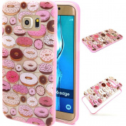 BLT® Galaxy S6 Edge case, Soft and Hard TPU Case, Cute Cookies Image Cover for for Samsung Galaxy S6 Edge, Screen Protector and Dust-absorber as Gift