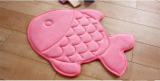 Hughapy® Slow Rebound Memory Foam Children Bath Rug Christmas Fish Slip Resistant Coral Fleece Mat Doormat Carpet