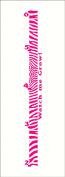 Wall Decor Plus More Zebra Growth Chart Vinyl Wall Decal Girls Room Decor 0.6m - 1.8m Hot Pink, 0.6m - 1.8m, Hot Pink