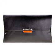 ZLYC Women Fashion Envelope Design Leather Wallet Clutch with Removable Card Holder