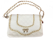 Zzfab Chain Designer Cross Body swing with Bow