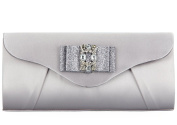 Grace Angel Women's Crystal Bow Hard Clutch Purse Evening Handbag GA16677