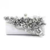 Kingluck Silk Flower with Diamond Wedding/Special Occasion Clutches/Evening Handbags Cluth purse