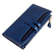 YaFeiGe Genuine Leather Women's Wallet Large Capacit Credit Card holder Case Clutch Purse