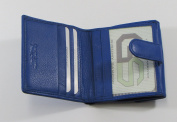 Campus Market Women's Wallet Genuine Leather Royal Blue Button Clasp