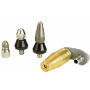 Sewer Jetter Nozzle Kit Includes One Turbo Jetting & (3) Stainless Steel Nozzles