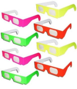 MI-PRO 12 PAIRS 3D PAPER GLASS FIRWORKS Rainbow Diffraction 3D Glasses - Folded & Sleeved