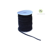 Genuine Suede Leather Lace Black 3x1.7mm 25 Metres