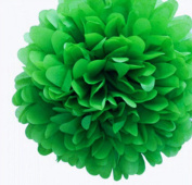 Aimeart Party Tissue Pom Poms 6 Pcs 13cm Diameter Paper Flower Ball Hanging Decorations, Dark Green