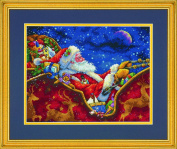 Dimensions Crafts 70-08934 Needlecraft Santa's Midnight Ride in Counted Cross Stitch