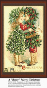 A Berry Merry Christmas, Vintage Counted Cross Stitch Pattern