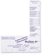 EMBROIDERY PLACEMENT RULER JR Child Sizes