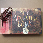 T-HAOHUA My Adventure Book,Pixar Up Movie Theme,80 Pages Hand Made Loose Leaf Kraft Paper DIY Photo Album,Anniversary Scrapbook,Wedding Photo Album